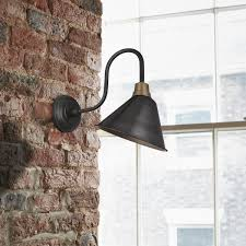 Retro Wall Sconces Vintage Cone Shaped Barn Swan Neck Retro Wall Sconce L Pewter