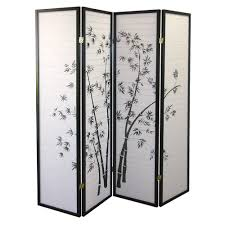 Home Decoraters Home Decorators Collection 5 83 Ft Black 4 Panel Room Divider