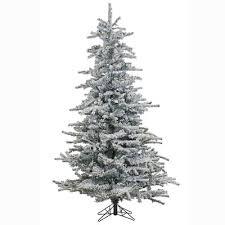 7 u0027 flocked faux spruce christmas tree with white lights joss u0026 main
