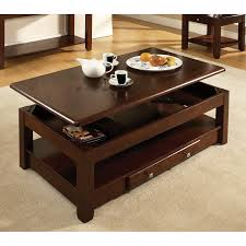 Enchanting Coffee Tables Lift Top Remarkable Ideas Console Sofa Coffee Tables Attractive Dark Brown Rectangle Minimalist Leather