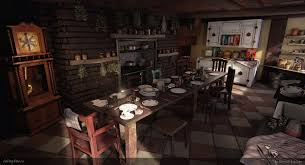 The Burrow Floor Plan Mrs Weasley U0027s Kitchen Page 2 U2014 Polycount