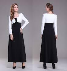turmec black long sleeve full length dresses