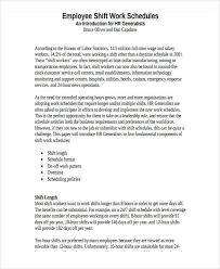 schedule template in pdf