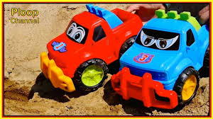 childrens monster truck videos cakes beach jeeps toy trucks seaside stories for children toy cars