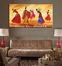 free shipping home decor modern picture indian dancer character