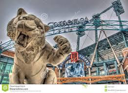 Comerica Park Map Tiger Outside Comerica Park Detroit Michigan Editorial