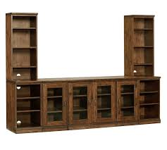 Chestnut Bookcase Printer U0027s Media Suite With Towers Pottery Barn