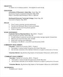 sample resume job objectives sample student resume objectives