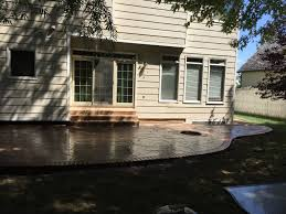 Stamped Concrete Patio Design Ideas by Stamped Concrete Decorative Concrete Colored Concrete Patio