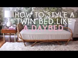 style sofa how to style a bed like a sofa