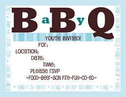 theme bbq baby shower invitations