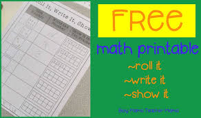 teacher mama free math printable roll it write it show it