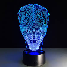 halloween kids gift jack smile face 3d lamp movie character