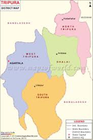 India Map Blank With States by Tripura Map Districts In Tripura