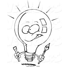 light bulb coloring pages clipart best click to see printable