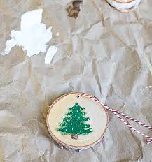 rustic wood painted christmas ornaments domestically speaking