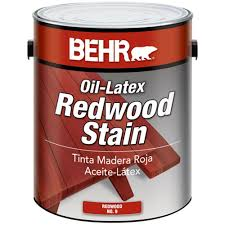 behr 1 gal redwood oil latex stain 00901 the home depot