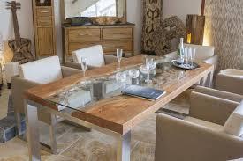 Esszimmertisch Rund Ausziehbar Stilvoll Esstisch Holz Edelstahl Aus Massivholz Mit Der Tischonkel