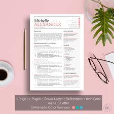 Creative Resume Template Word Resume Template Feminine Design Creative Resume Template Word