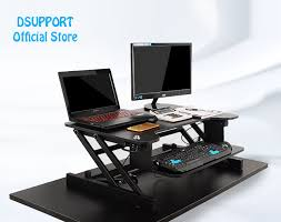 Computer Desk With Adjustable Keyboard Tray Easyup Height Adjustable Sit Stand Desk Riser Foldable Laptop Desk