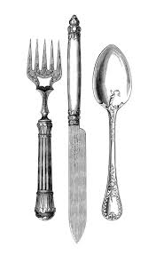 Vintage Kitchen Knives by Vintage Kitchen Clip Art Fork Knife Spoon The Graphics Fairy