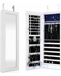 Jewelry Storage Cabinet Slash Prices On Homdox Lighted Wall Mount Locking Jewelry Armoire