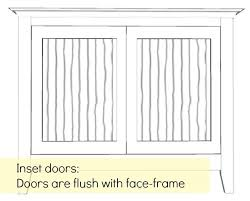 Flush Inset Kitchen Cabinets Choosing Cabinet Doors And Hinges Sawdust