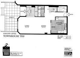 Plan 888 15 by Gastown Townhomes Chris Ryanchris Ryan