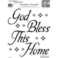 roommates god bless this home peel and stick wall decals single roommates god bless this home peel and stick wall decals single sheet walmart com