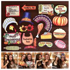 full thanksgiving dinner festive thanksgiving photo booth props perfect for your