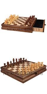 contemporary chess 40856 lia chess board game set 15 inch walnut