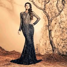 design abendkleider neueste design schwarz heavybeaded lange abendkleider meerjungfrau