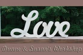 love sign diy wedding decoration wall hanging wooden letters