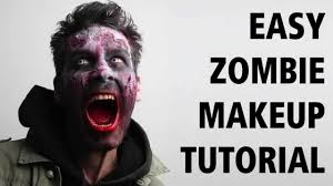 How To Do Halloween Makeup Zombie by How To Easy Zombie Makeup Tutorial Come Truccarsi Da Zombie