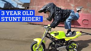 old motocross helmets 3 year old motorcycle stunt rider youtube