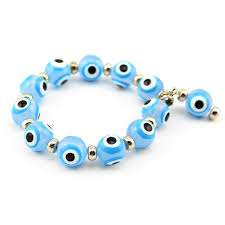 evil eye beaded bracelet images Turkish evil eye light blue beads bracelet jewish nazar arabic jpg
