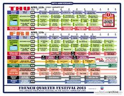 New Orleans French Quarter Map by French Quarter Festival 2014 Festival Archive
