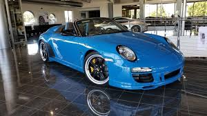 2011 porsche speedster for sale 2011 porsche 911 speedster in pure blue an amazing example of a