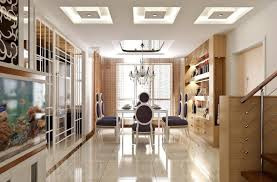 duplex house dining room interior design with chair wine cooler