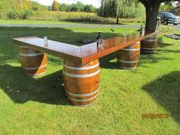 Wine Barrel Bar Table Rustic Wine Barrel Bar Appitizers Pinterest Wine Barrel Bar