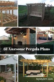 61 pergola plan designs u0026 ideas free mymydiy inspiring diy