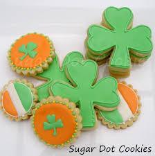 sugar dot cookies saint patricks day sugar cookies