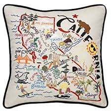 new york embroidered pillow catstudio home