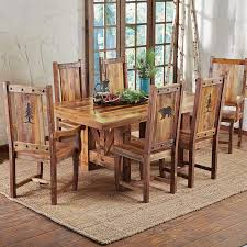 distressed dining room sets rectangular square reclaimed wood dining table farmhouse set