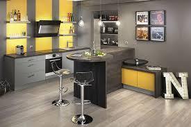 cuisine noir et jaune meuble de cuisine jaune moutarde mobilier design décoration d
