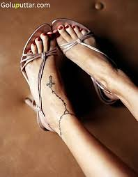 fantastic cross chain design on ankle goluputtar com