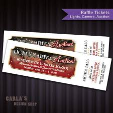 river of lights tickets lights camera auction printable raffle ticket fundraiser fit 10