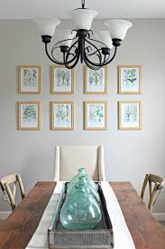 botanical gallery wall in dining room delightfully noted