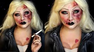 Chucky Bride Halloween Costumes Bruised Bride Chucky Halloween Sfx Makeup Tutorial Jordan