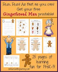 the gingerbread man printable pack freebie